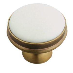 Porcelain cabinet knob