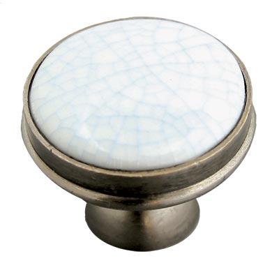 Blue Crackle Porcelain Knob