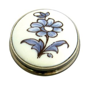 Blue Flower Porcelain Knob