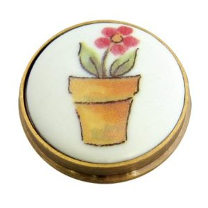 Flower Pot Porcelain Knob