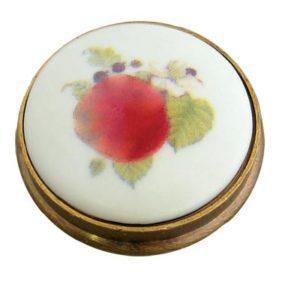 Apple Porcelain Knob