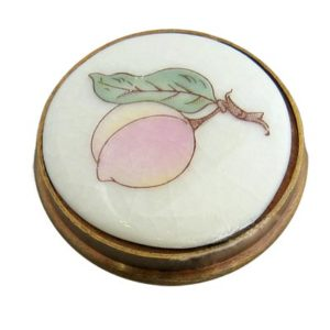Peach Crackle Porcelain Knob