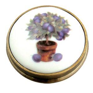 Plum Tree Porcelain Knob