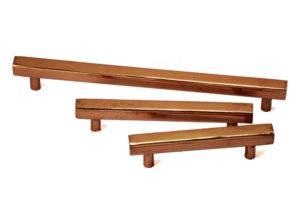 Square Copper Cabinet Pulls