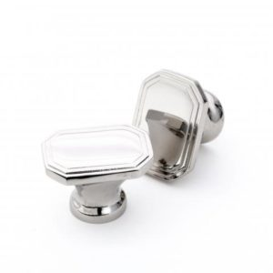 Art Deco Oblong Knob For Kitchen U0026 Joinery Polished Nickel
